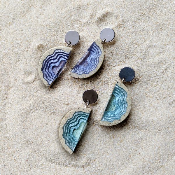 Aqua - Inlet Earrings
