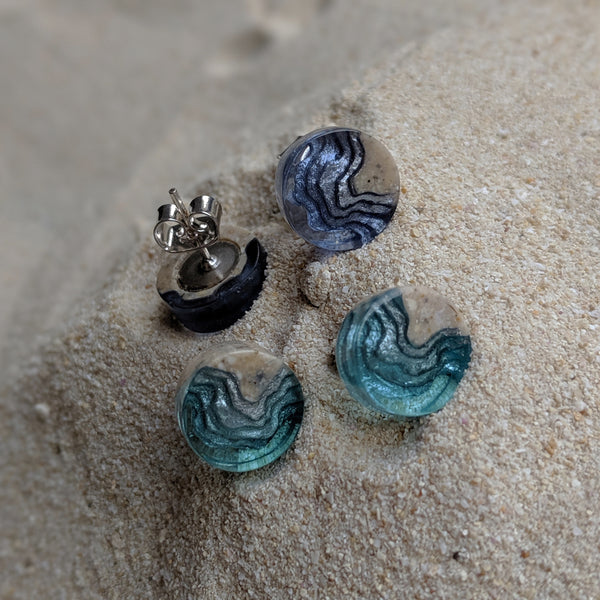 Aqua - Shoal Stud Earrings