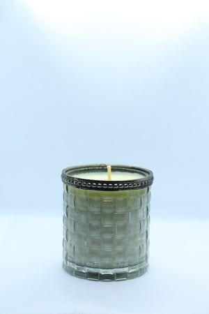 Metal Rimmed, Smokey Glass Candle