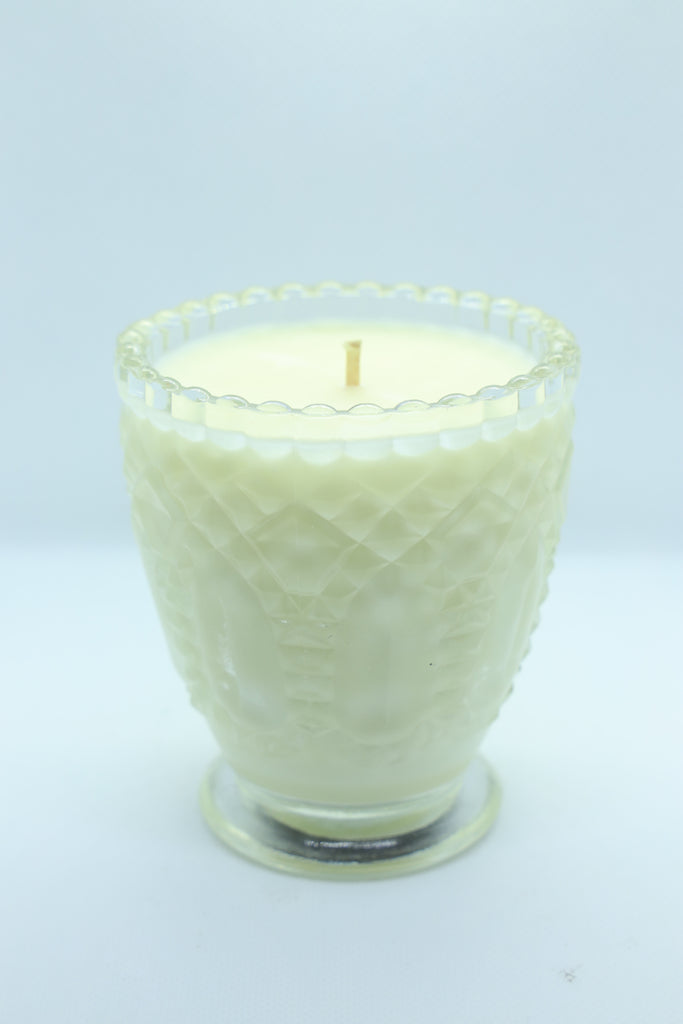 Clear Crystal Patterned Glass Candle