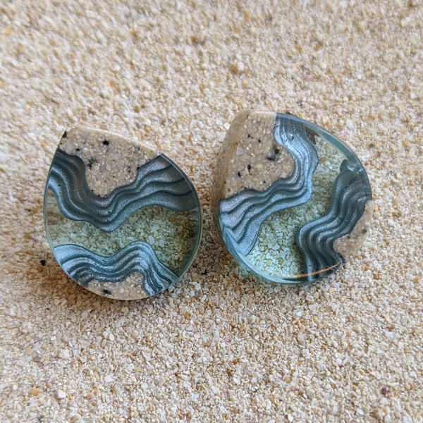 Ocean Ridge Stud Earrings