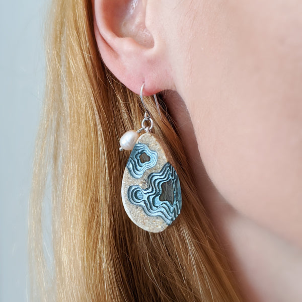 Aqua - Rockpool Earrings