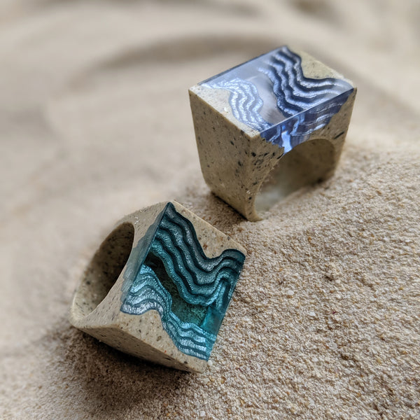 Aqua - Rift Statement Ring