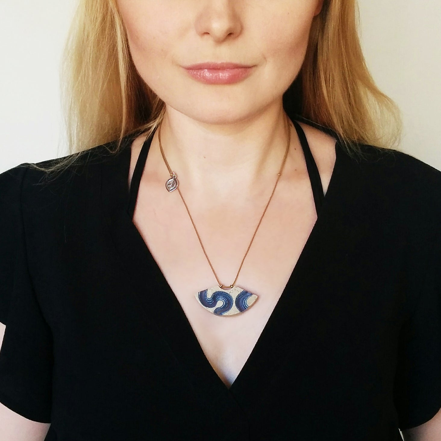 Aqua - Meander Necklace