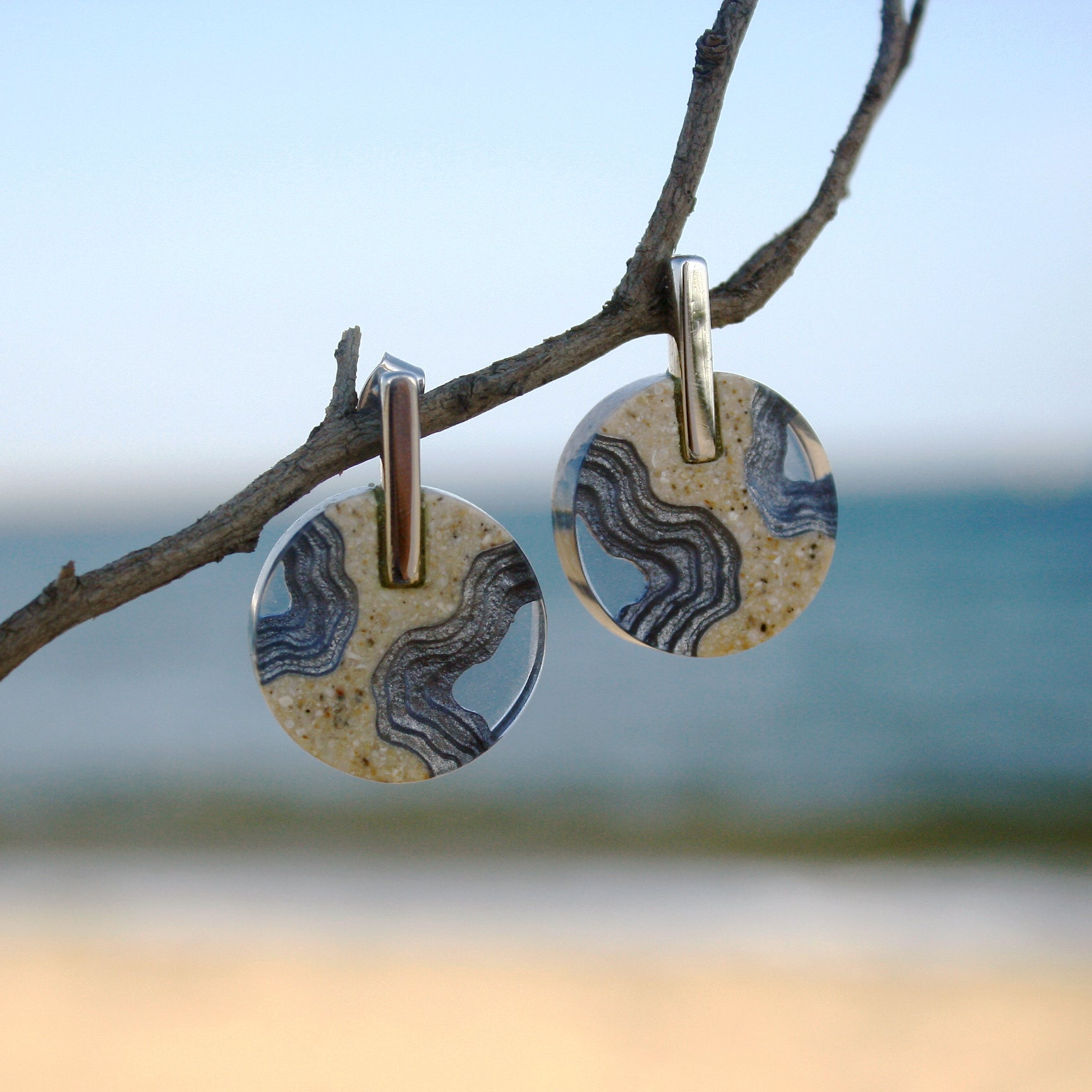 Aqua - Isthmus Statement Earrings