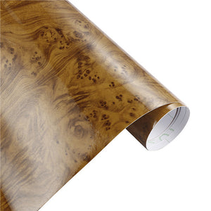 Glossy Wood Grain Pattern Vinyl Wrap