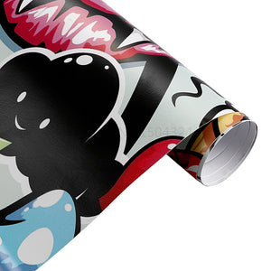 Matte Graffiti Pattern Vinyl Wrap