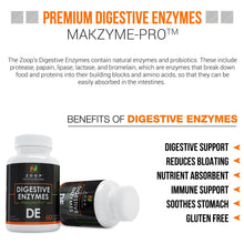 Zoop Digestive Enzymes With Probiotics, For Constipation, Bloating & Gas Relief, Acid Reflux, Leaky Gut, Irritable Bowel Syndrome, Ulcerative Colitis, And Diarrhea. (Enzimas Digestivas) - GL Health & Wellness