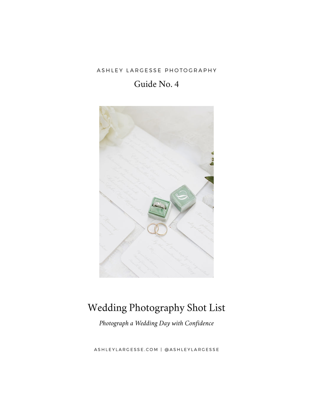A Wedding Photography Shot List