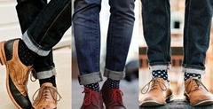 polka point socks
