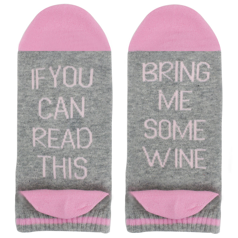 Saying Pink Wine Ankle Socks - Happypop
