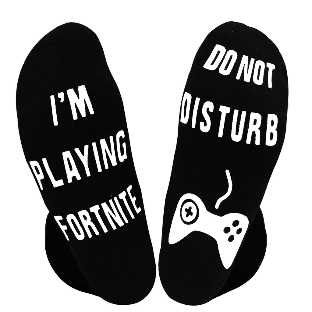 Black-White Fortnite Game Socks - Happypop