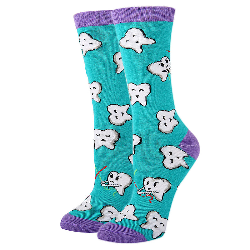 Purple Dental Teeth Socks