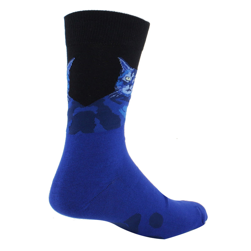 Blue Cat Socks - Happypop