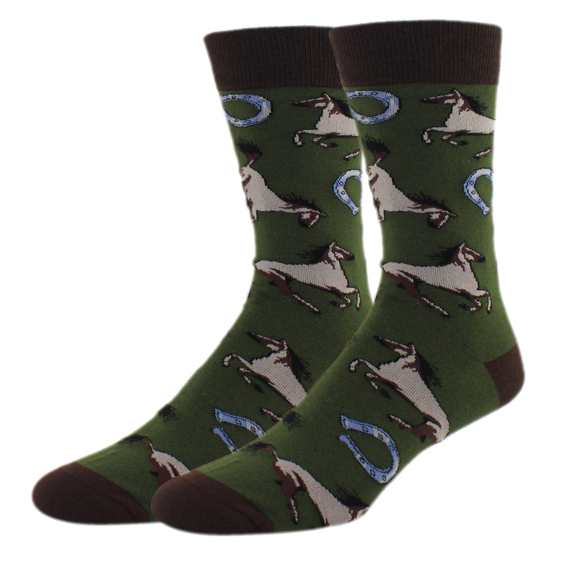 Racing Horses Socks - Happypop
