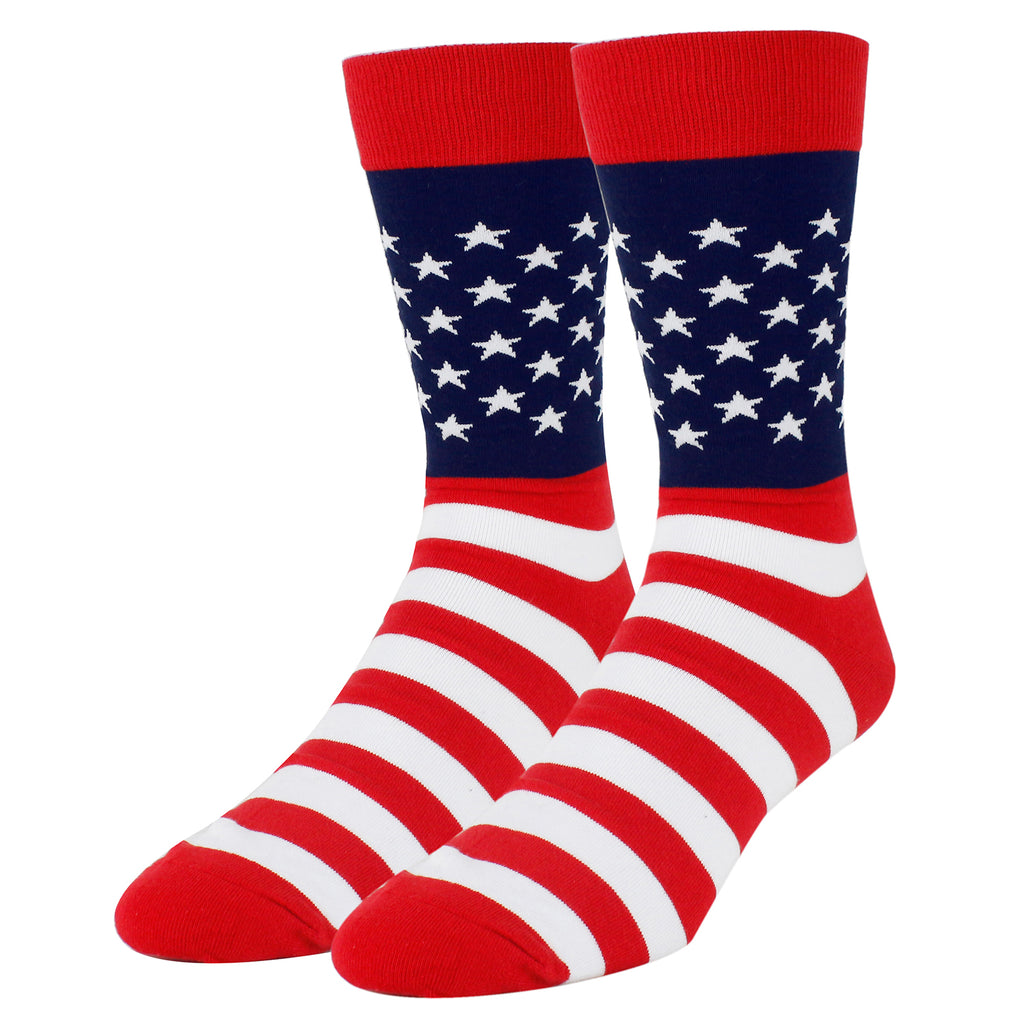 Patriotic Flag Stripes Socks - Happypop