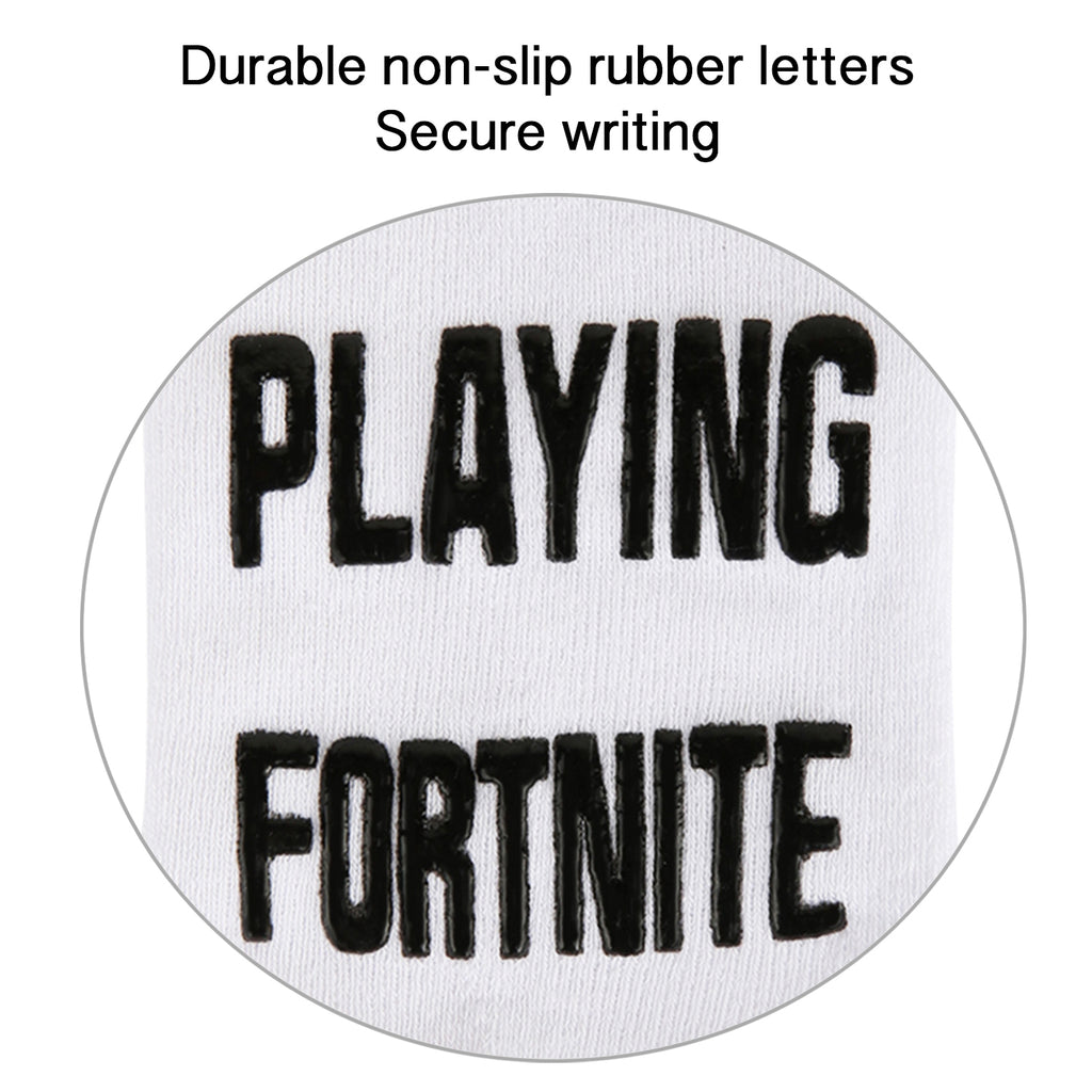 White-Black Fortnite Game Socks - Happypop