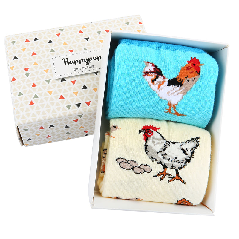 Animal Book Socks Gift Box