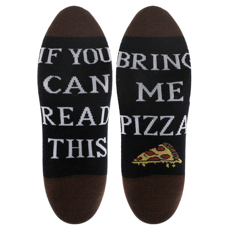 Saying Brown Pizza Ankle Socks - Happypop