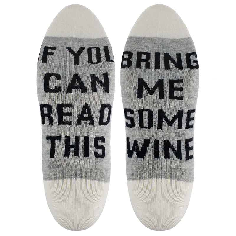 Saying Beige Wine Ankle Socks - Happypop