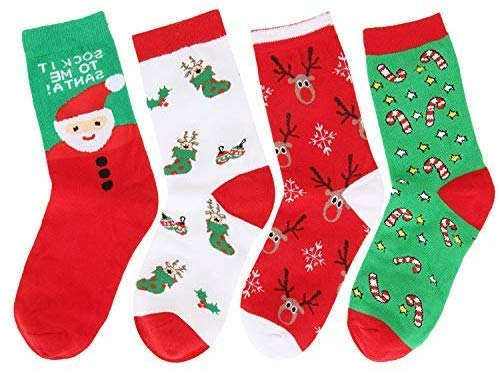 Girls Christmas Socks