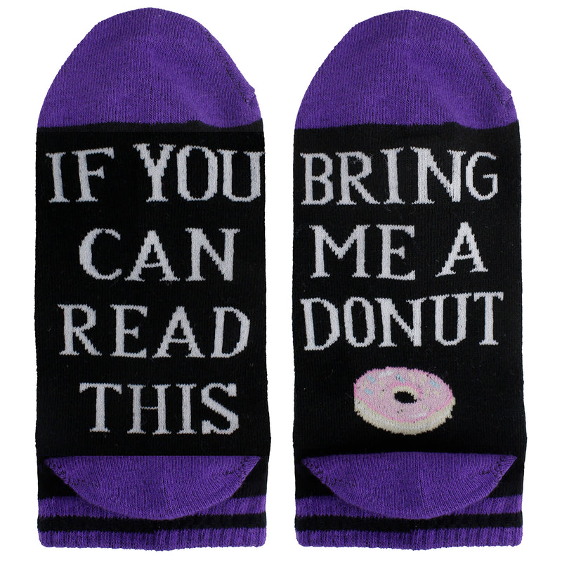 Saying Purple Donuts Ankle Socks - Happypop