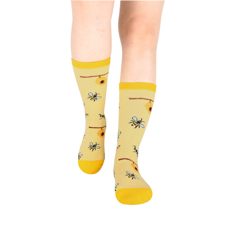 Yellow Bees Socks - Happypop