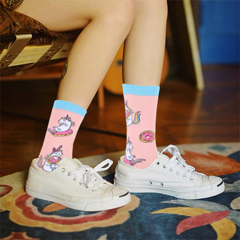 Unicorn Donut Socks - Happypop