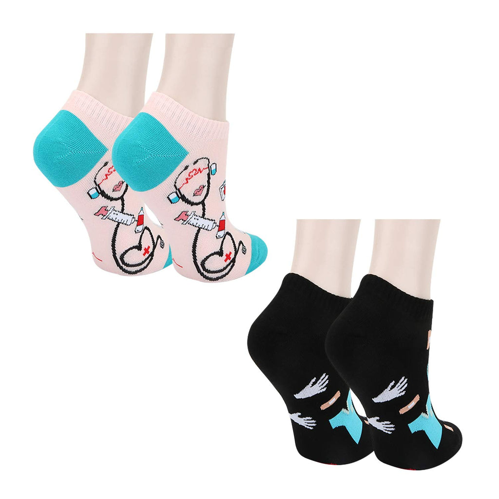 Nurse Ankle Socks - 2 Pack - Happypop