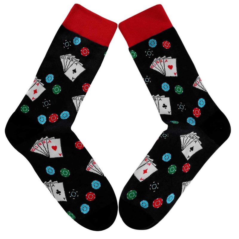 Poker Chips Socks - Happypop