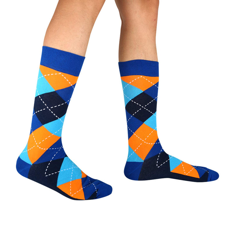 Light Argyle Socks Gift Box - Happypop