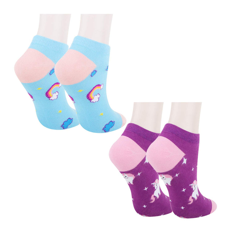 Unicorn Ankle Socks - 2 Pack - Happypop