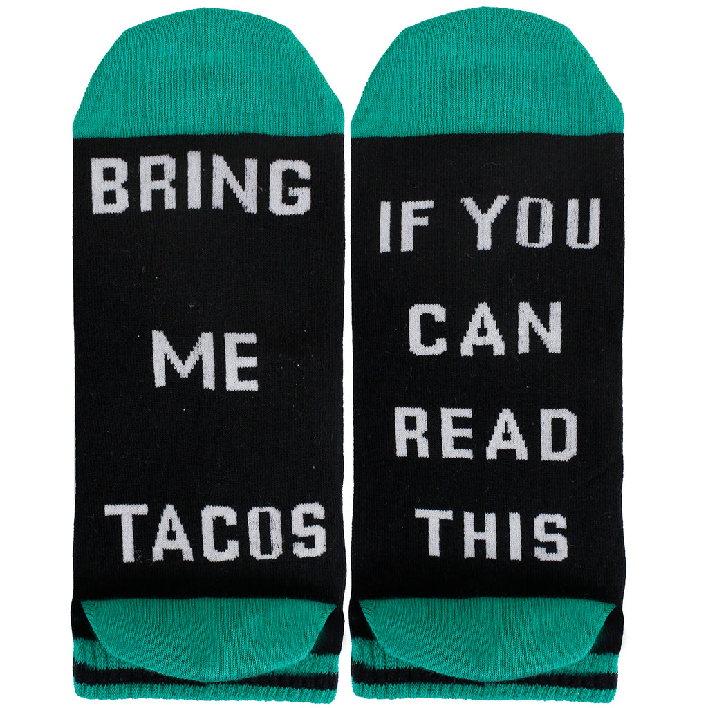 Saying Green Taco Ankle Socks - Happypop