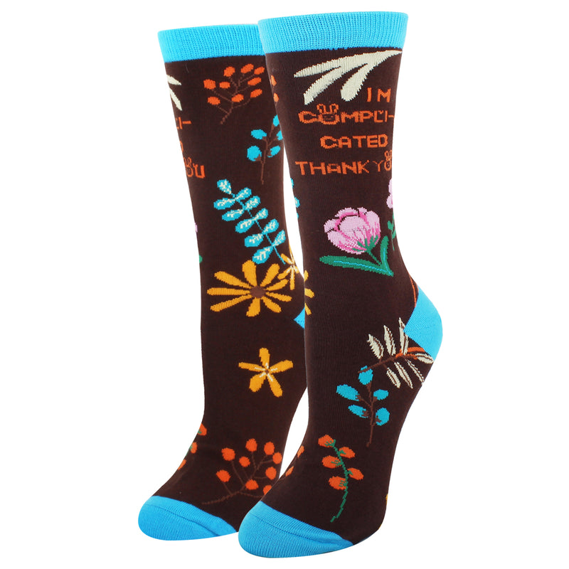 Dirty Quote Flower Socks - Happypop