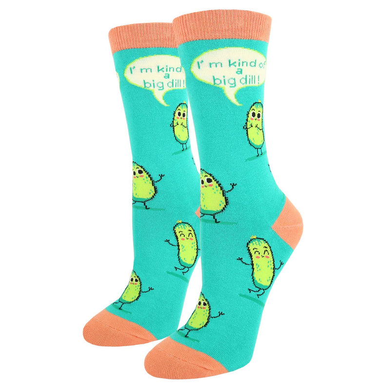 Pink Big Dill Socks