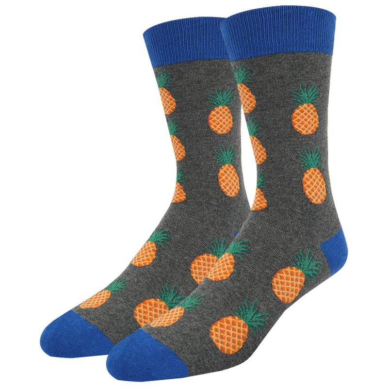 Grey Pineapple Socks
