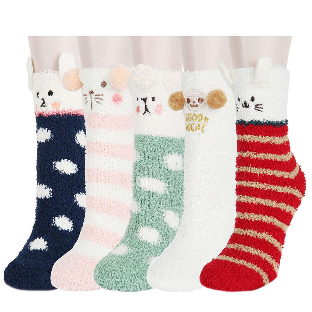 Fluffy Fuzzy Cartoon Socks - Happypop