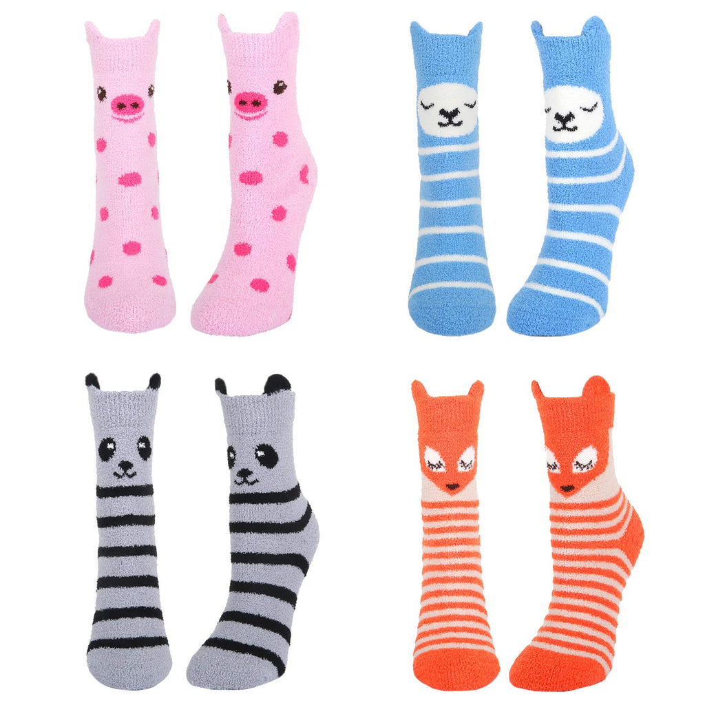 Fluffy Fuzzy Cute Animal Socks - Happypop