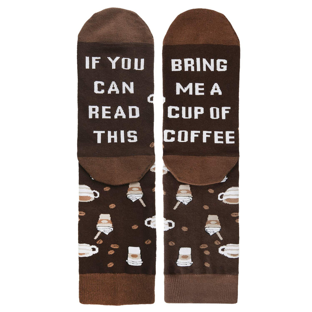 Saying Coffee Socks