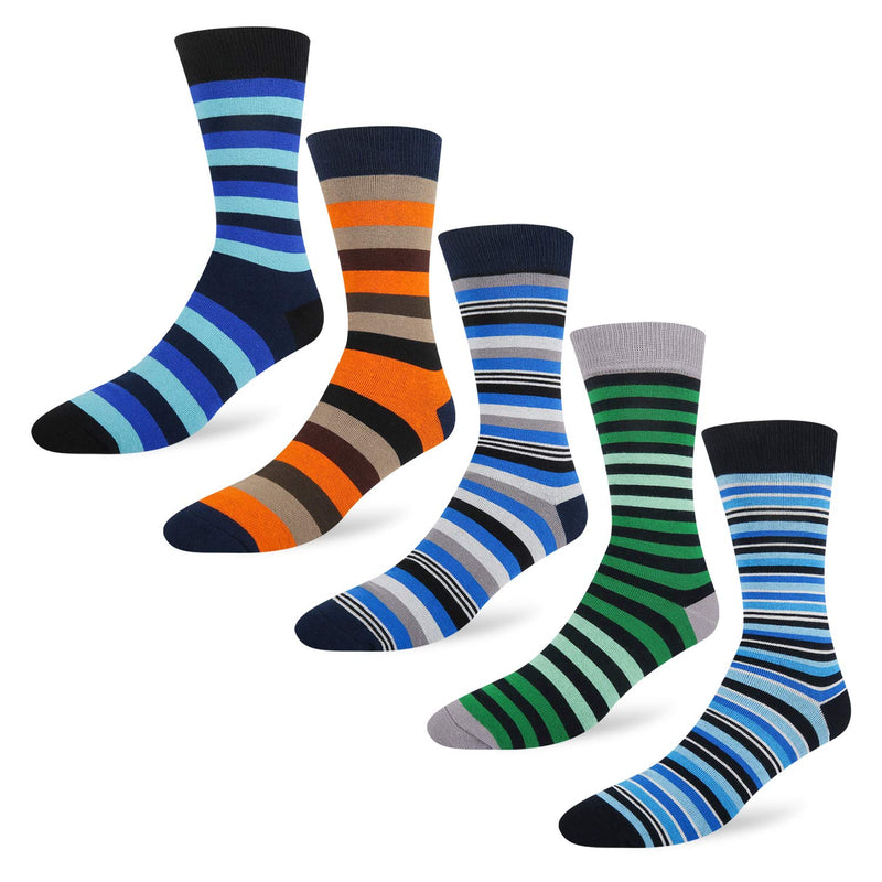 Stripe Argyle Socks - 5 pack - Happypop