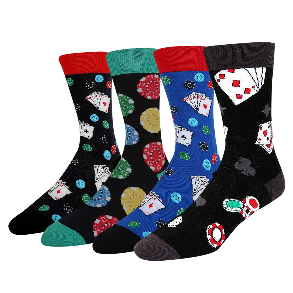 Poker Chips Socks Gift Box