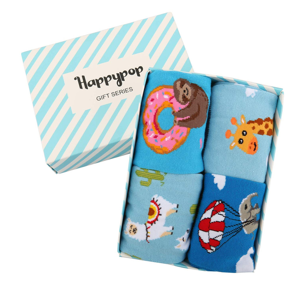 Kids Animals Socks Gift Box