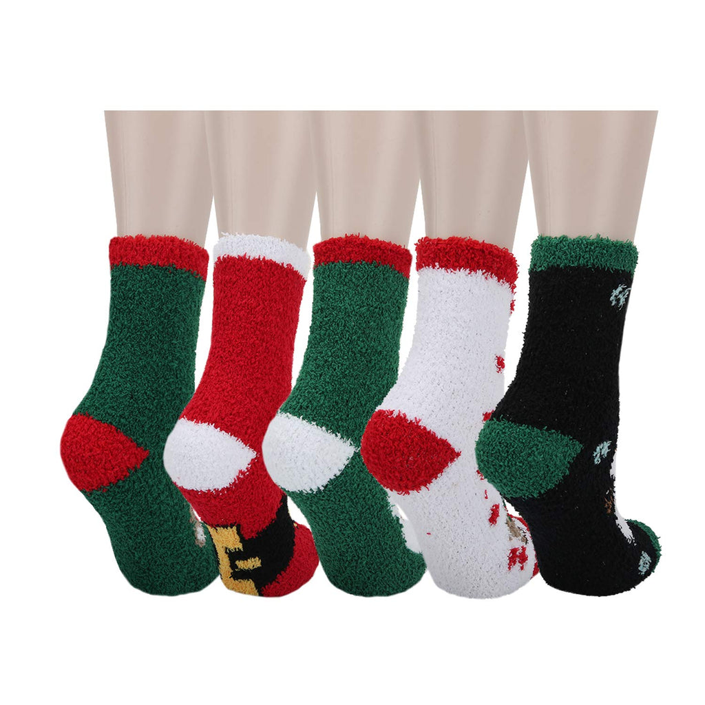 Fuzzy Christmas Series Socks