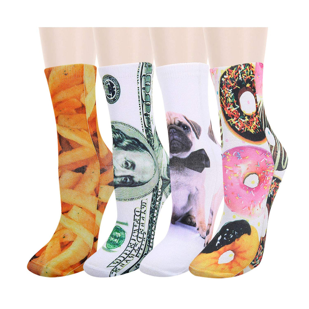 Printed 3D Dog Food Socks - Happypop