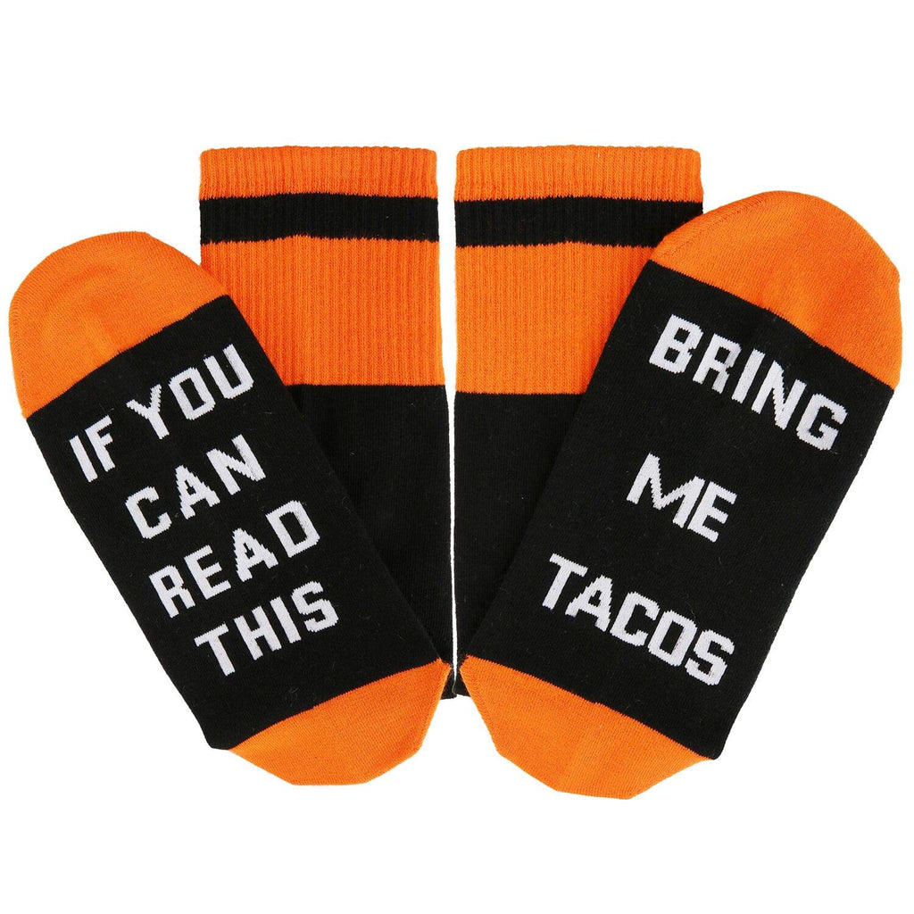 Orange Saying Taco Socks