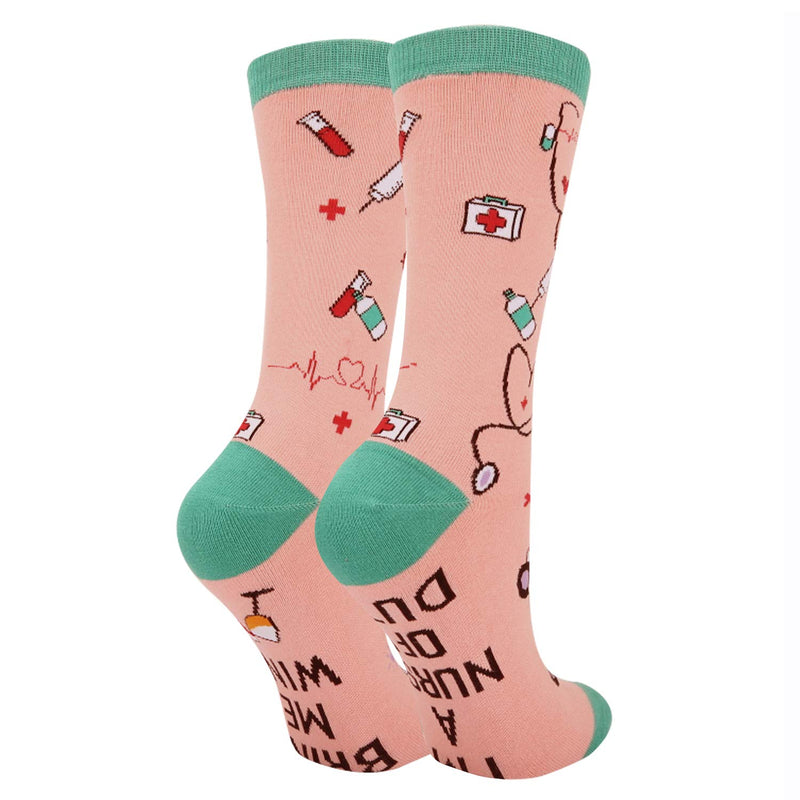 Saying Nurse Socks - Happypop