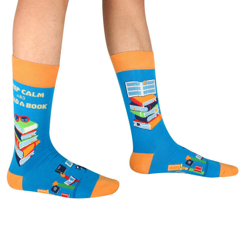 Read A Book Socks - Happypop