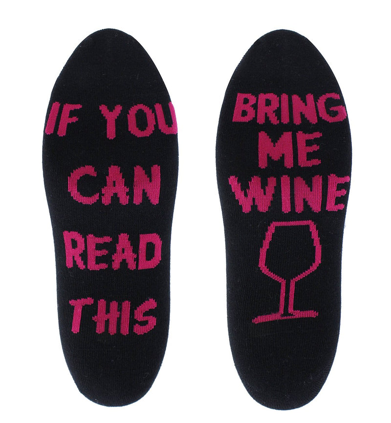Saying Black Wine Socks - Happypop