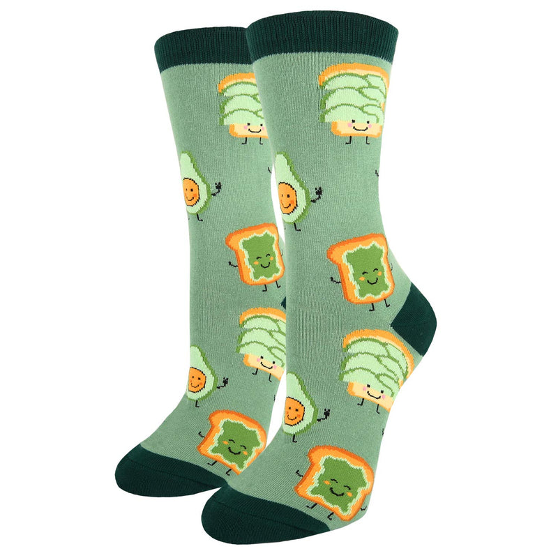 Emoji Toast Avocado Socks