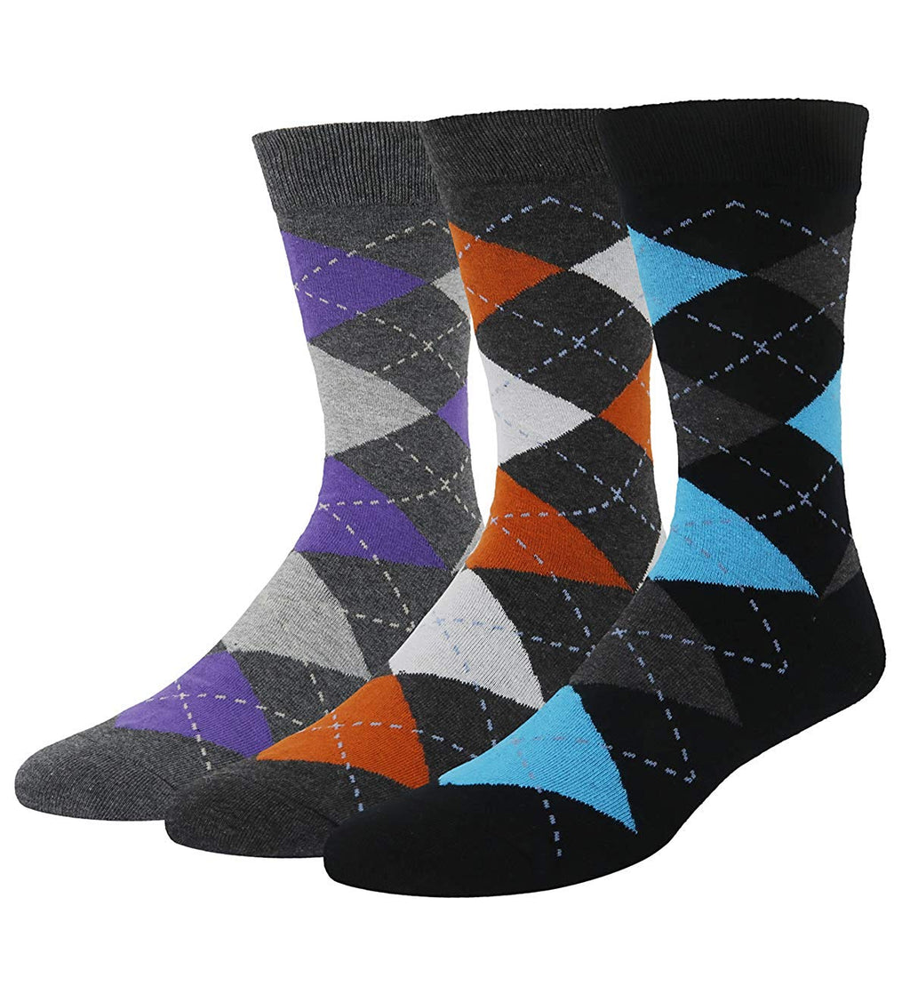 Black Argyle Socks Gift Box - Happypop